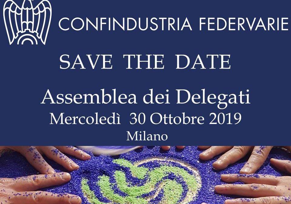 ASSEMBLEA CONFINDUSTRIA FEDERVARIE – 30 OTTOBRE 2019