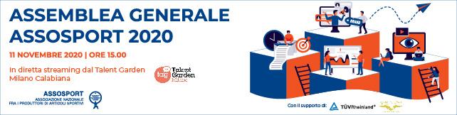 Assemblea Generale ASSOSPORT: 11 NOVEMBRE 2020